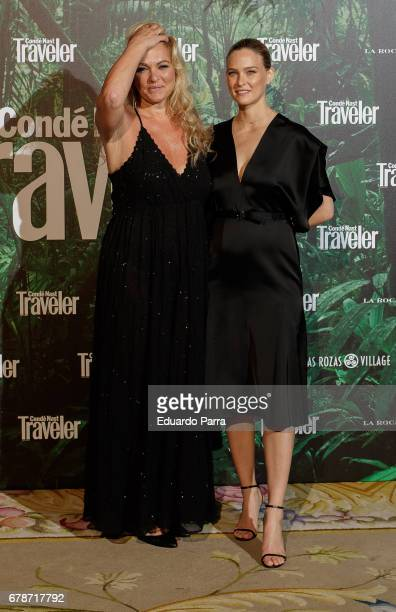 Model Bar Rafaeli and her mother Tzipi Levine attend the 'Conde Nast Traveler awards' photocall at Ritz hotel on May 4 2017 in Madrid Spain