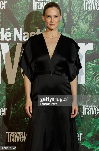 Model Bar Rafaeli attends the 'Conde Nast Traveler awards' photocall at Ritz hotel on May 4 2017 in Madrid Spain