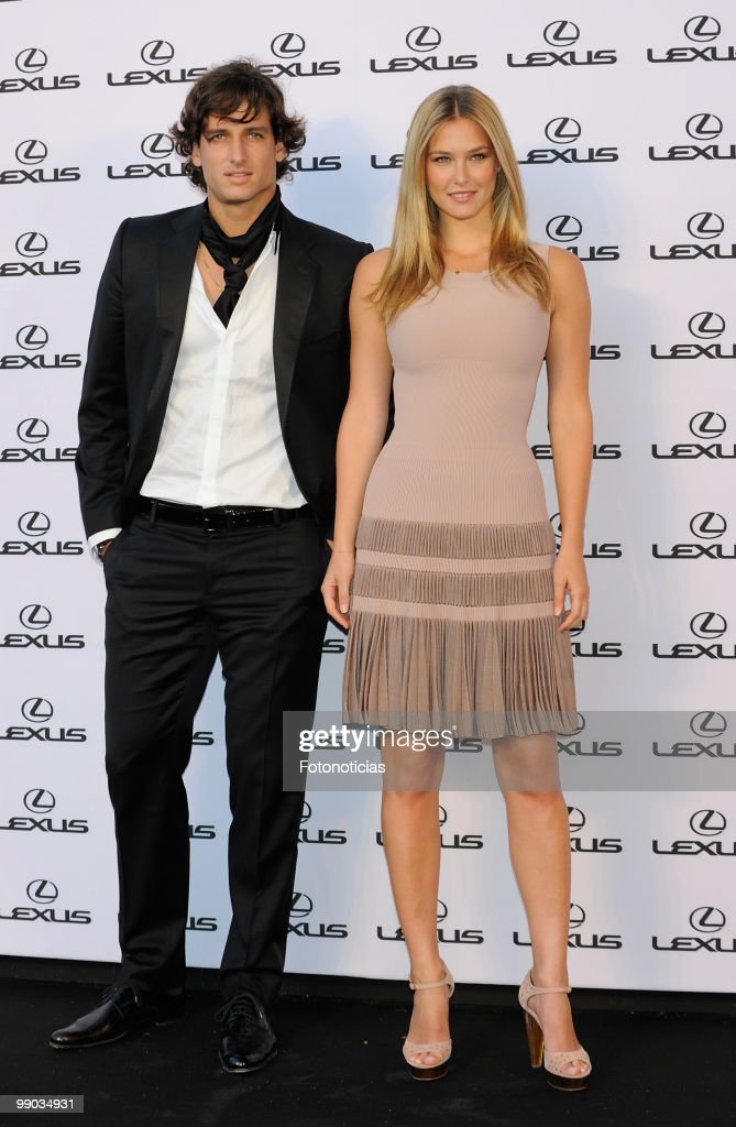 Model Bar Refaeli (R) and tennis player Feliciano Lopez attend a 'Lexus' party, hosted by Bar Refaeli at the Villamagna Hotel on May 11, 2010 in Madrid, Spain.
