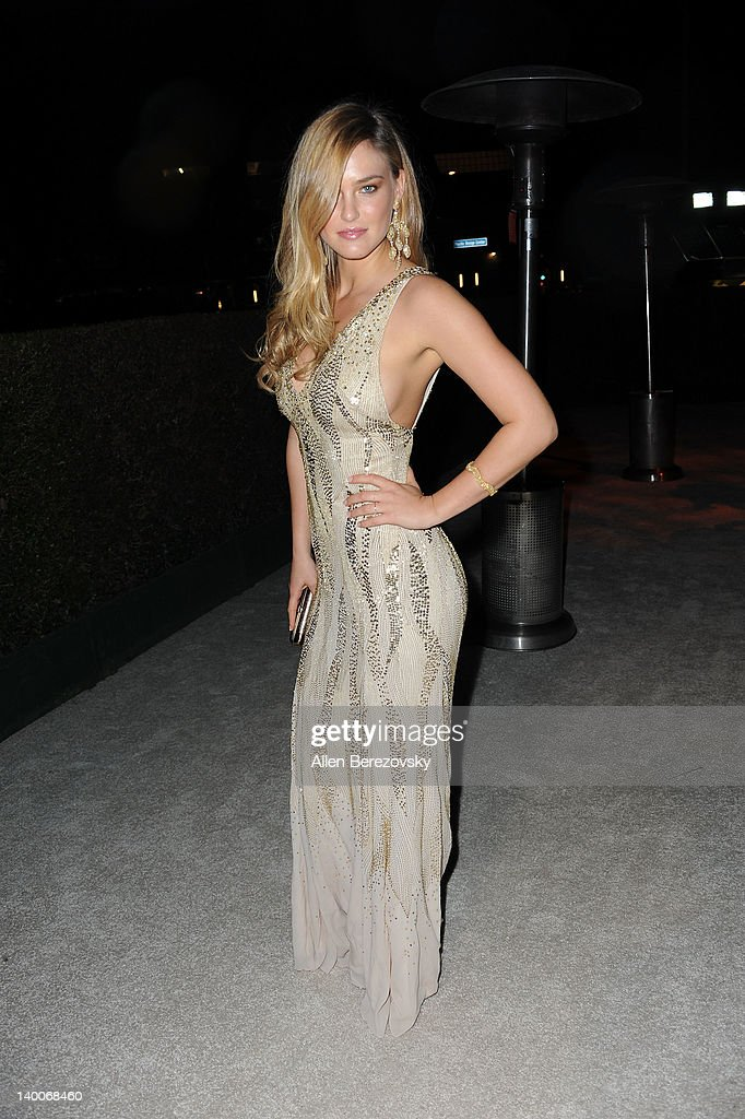 Model Bar Refaeli arrives at Audi Arrivals at 20th annual Elton John AIDS Foundation Academy Awards viewing party on February 26, 2012 in Beverly Hills, California.