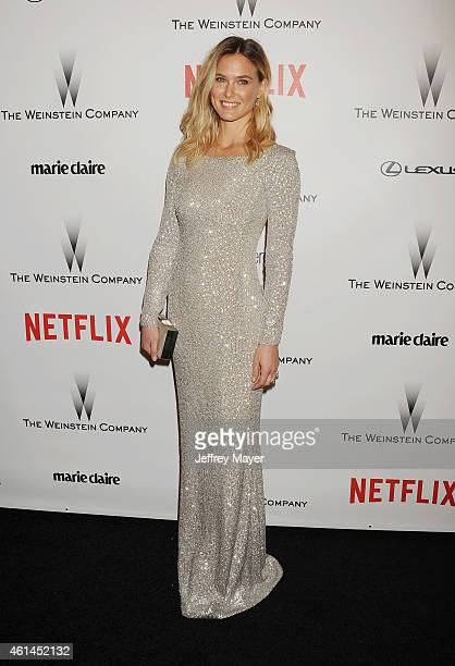 Model Bar Refaeli attends the 2015 Weinstein Company and Netflix Golden Globes After Party at Robinsons May Lot on January 11 2015 in Beverly Hills...