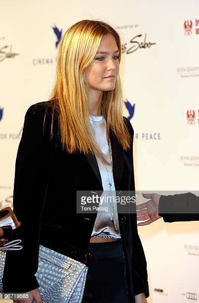 Model Bar Refaeli attends the Annual Cinema For Peace Gala during day five of the 60th Berlin International Film Festival at the Konzerthaus am...