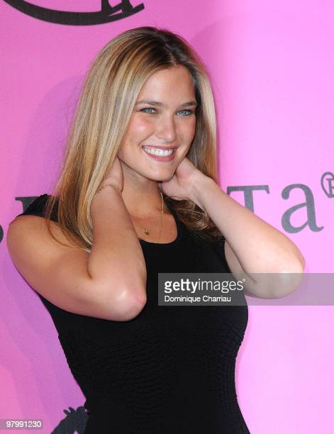 Model Bar Refaeli poses during a photocall before the presentation of 'The Passionata' collection on March 23 2010 in Paris France
