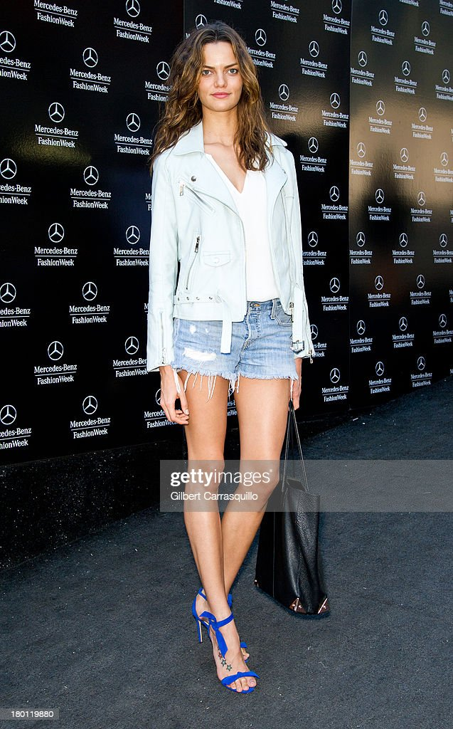 Model Barbara Fialho attends 2014 Mercedes-Benz Fashion Week during day 4 on September 8, 2013 in New York City.