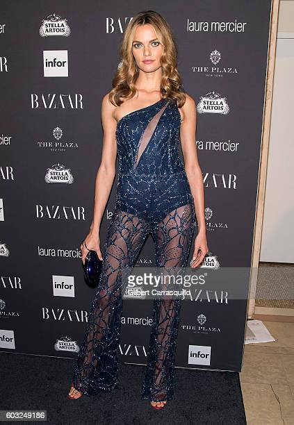 Model Barbara Fialho attends Harper's BAZAAR Celebrates 'ICONS By Carine Roitfeld' at The Plaza Hotel on September 9 2016 in New York City