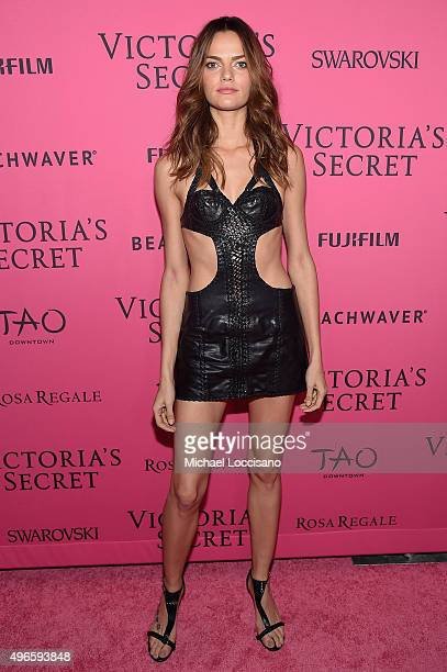 Model Barbara Fialho attends the 2015 Victoria's Secret Fashion After Party at TAO Downtown on November 10 2015 in New York City