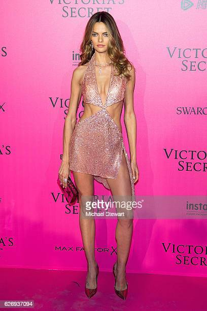 Model Barbara Fialho attends the 2016 Victoria's Secret Fashion Show after party at Le Grand Palais on November 30 2016 in Paris France