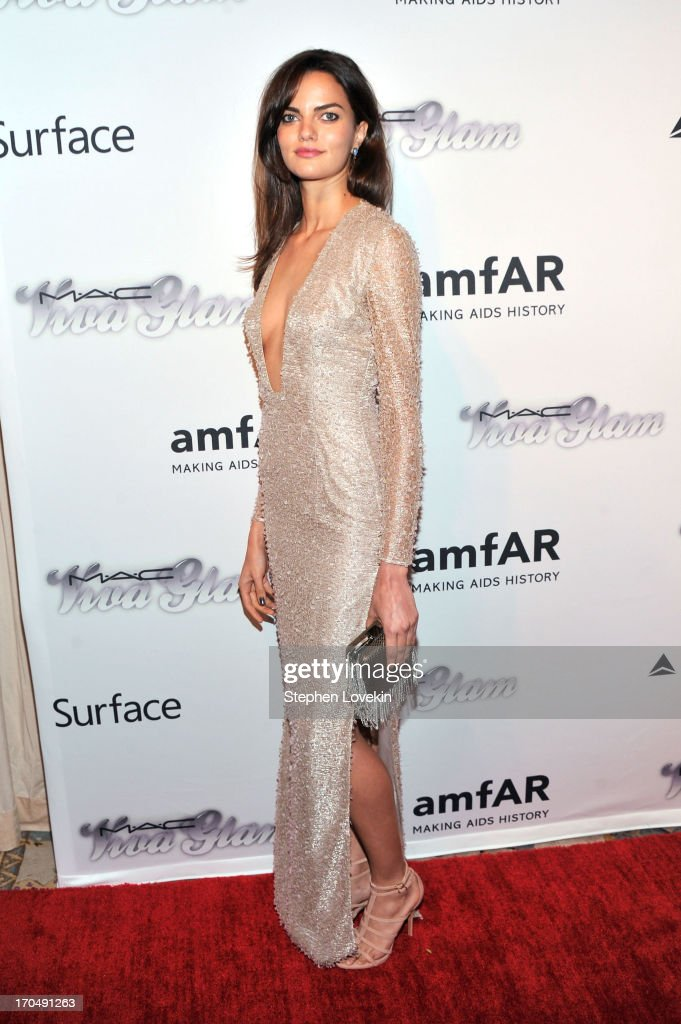 Model Barbara Fialho attends the 4th Annual amfAR Inspiration Gala New York at The Plaza Hotel on June 13, 2013 in New York City.