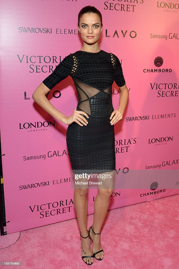 Model Barbara Fialho attends the after party for the 2012 Victoria's Secret Fashion Show at Lavo NYC on November 7, 2012 in New York City.