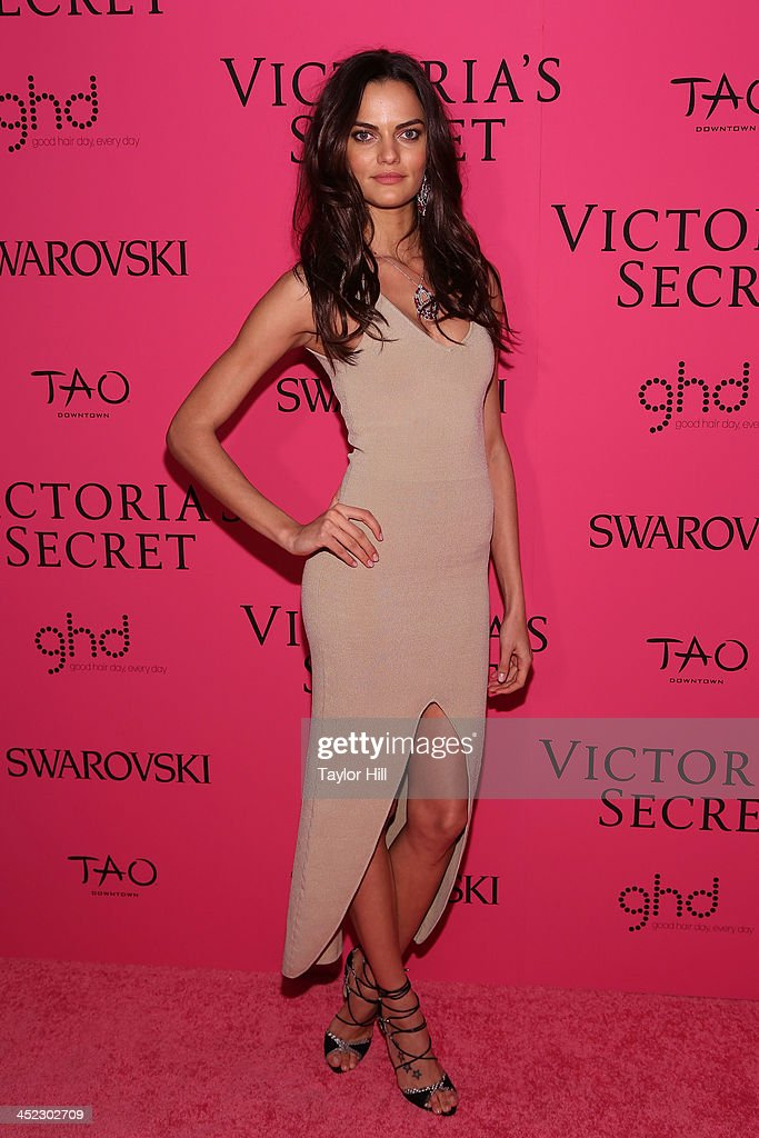Model Barbara Fialho attends the after party for the 2013 Victoria's Secret Fashion Show at Lavo NYC on November 13, 2013 in New York City.