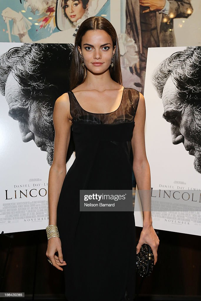 Model Barbara Fialho attends the special screening of Steven Spielberg's 'Lincoln' at the Ziegfeld Theatre on November 14, 2012 in New York City.