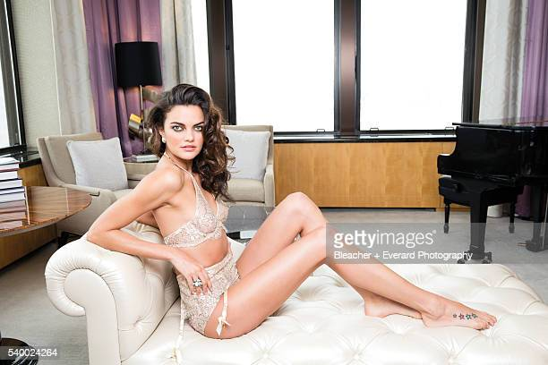 Model Barbara Fialho is photographed for Esquire Mexico on January 21 2014 in New York City Styling Erin McSherry Makeup Sae Ryun Song Hair Jennifer...