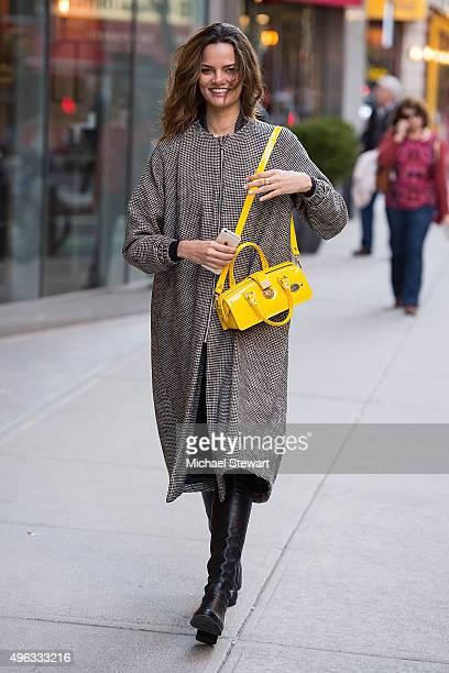 Model Barbara Fialho is seen in Midtown on November 8 2015 in New York City