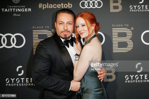 Model Barbara Meier and her boyfriend business man Klemens Hallmann attends the Place To Be Party after the Lola German Film Award on April 28 2017...