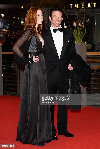 Model Barbara Meier and partner producer Oliver Berben attend the 'Tuan Yuan' Premiere during day one of the 60th Berlin International Film Festival...