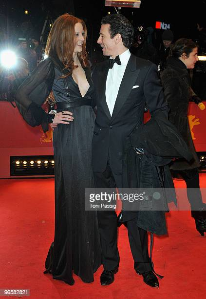 Model Barbara Meier and producer Oliver Berben attend the 'Tuan Yuan' Premiere during day one of the 60th Berlin International Film Festival at the...