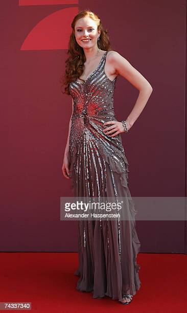 Model Barbara Meier arrives for the 'Blaue Panther' Bavarian Television Award 2007 Ceremony at the Prinzregenten Theater on May 25 2007 in Munich...