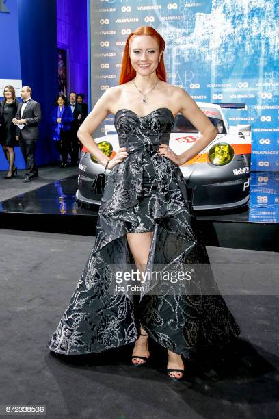 Model Barbara Meier arrives for the GQ Men of the year Award 2017 at Komische Oper on November 9 2017 in Berlin Germany