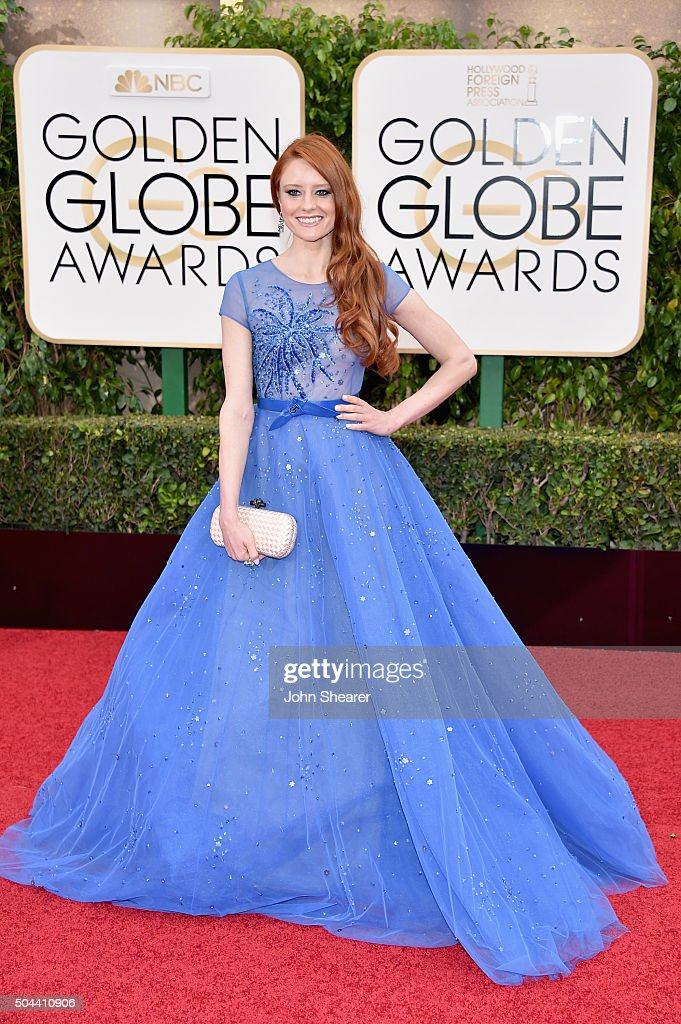 Model Barbara Meier attends the 73rd Annual Golden Globe Awards held at the Beverly Hilton Hotel on January 10, 2016 in Beverly Hills, California.