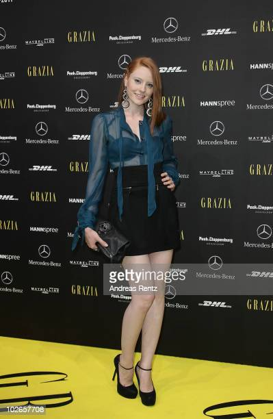 Model Barbara Meier attends the Opening Night by Grazia during the Mercedes Benz Fashion Week Spring/Summer 2011 at Bebelplatz on July 6 2010 in...
