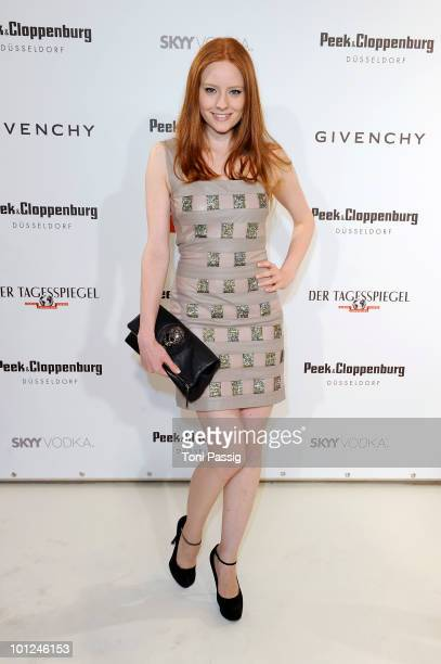 Model Barbara Meier attends the 'Sex And The City 2' movie night at the Peek Cloppenburg flagship store on May 28 2010 in Berlin Germany
