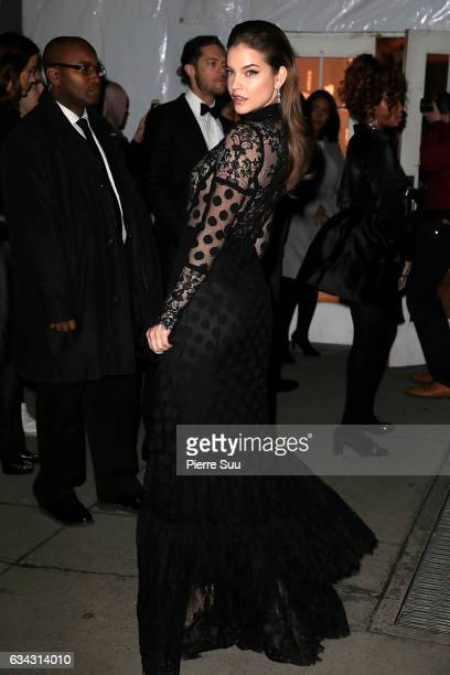 Model Barbara Palvin attends the 19th annual amfAR's New York Gala to kick off NY Fashion Week at Cipriani Wall Street on February 8 2017 in New York...