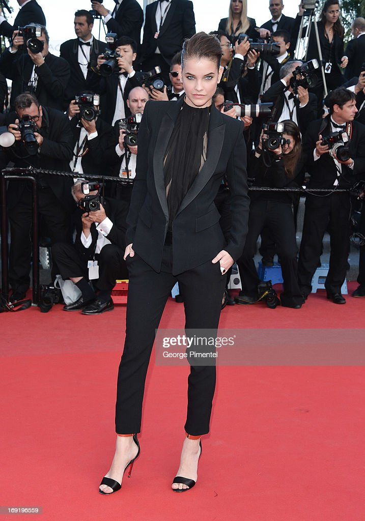 Model <a gi-track='captionPersonalityLinkClicked' href=/galleries/search?phrase=Barbara+Palvin&family=editorial&specificpeople=7190694 ng-click='$event.stopPropagation()'>Barbara Palvin</a> attends the Premiere of 'Cleopatra' at The 66th Annual Cannes Film Festival on May 21, 2013 in Cannes, France.