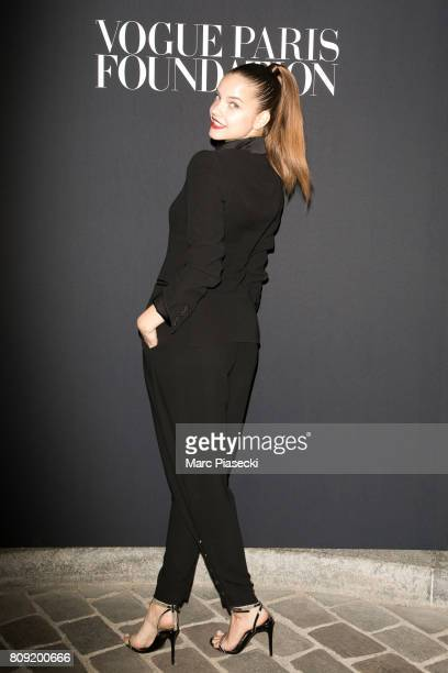 Model Barbara Palvin attends Vogue Foundation Dinner during Paris Fashion Week as part of Haute Couture Fall/Winter 20172018 at Musee Galliera on...
