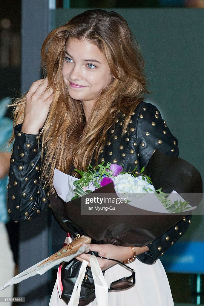 Model Barbara Palvin is seen upon arrival at the Incheon International Airport on August 26, 2013 in Incheon, South Korea.