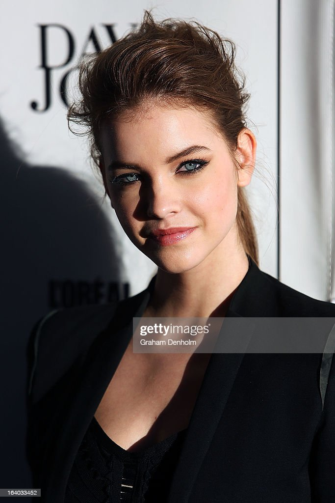 Model Barbara Palvin poses as she arrives for the L'Oreal Melbourne Fashion Festival Opening Event presented by David Jones at Docklands on March 19, 2013 in Melbourne, Australia.