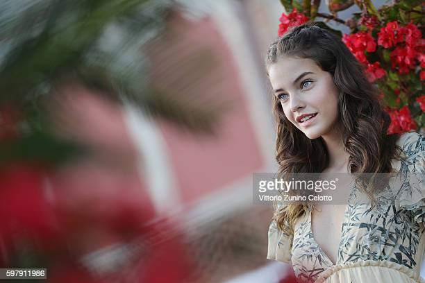 Model Barbara Palvin poses on the beach during the 73rd Venice Film Festival on August 30 2016 in Venice Italy
