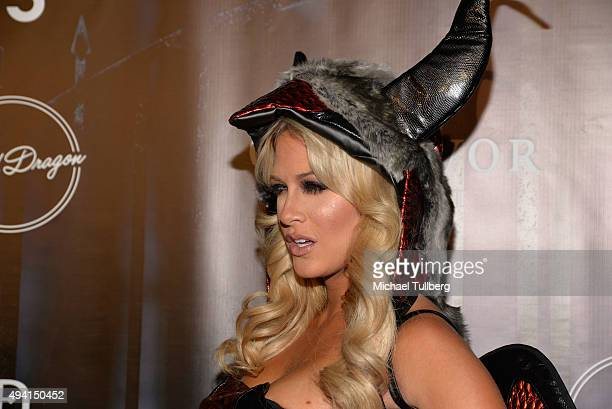 Model Barbie Blank attends The Official MAXIM Halloween Party produced by Karma International on October 24 2015 in Beverly Hills California