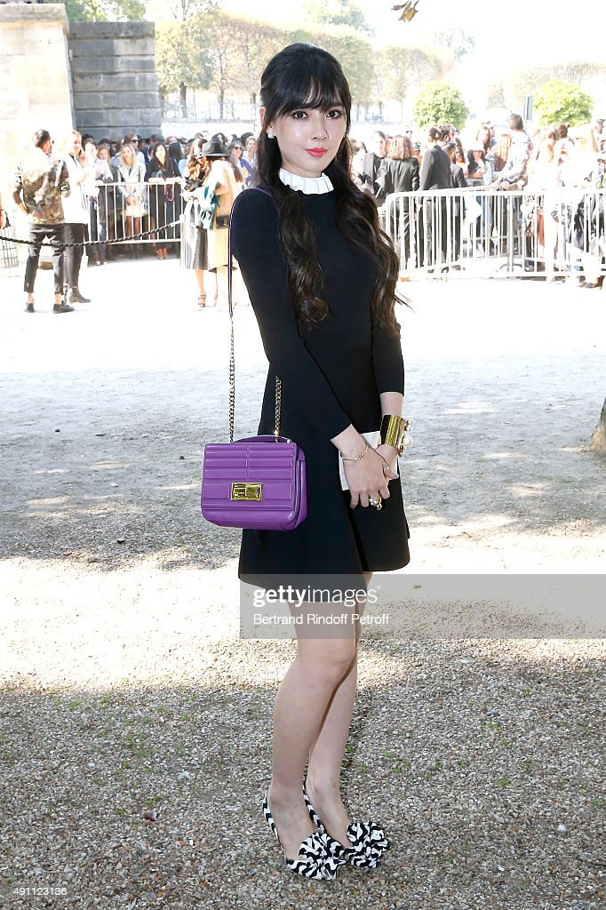 Model Bea Hayden Kuo attends the Elie Saab show as part of the Paris Fashion Week Womenswear Spring/Summer 2016 on October 3 2015 in Paris France