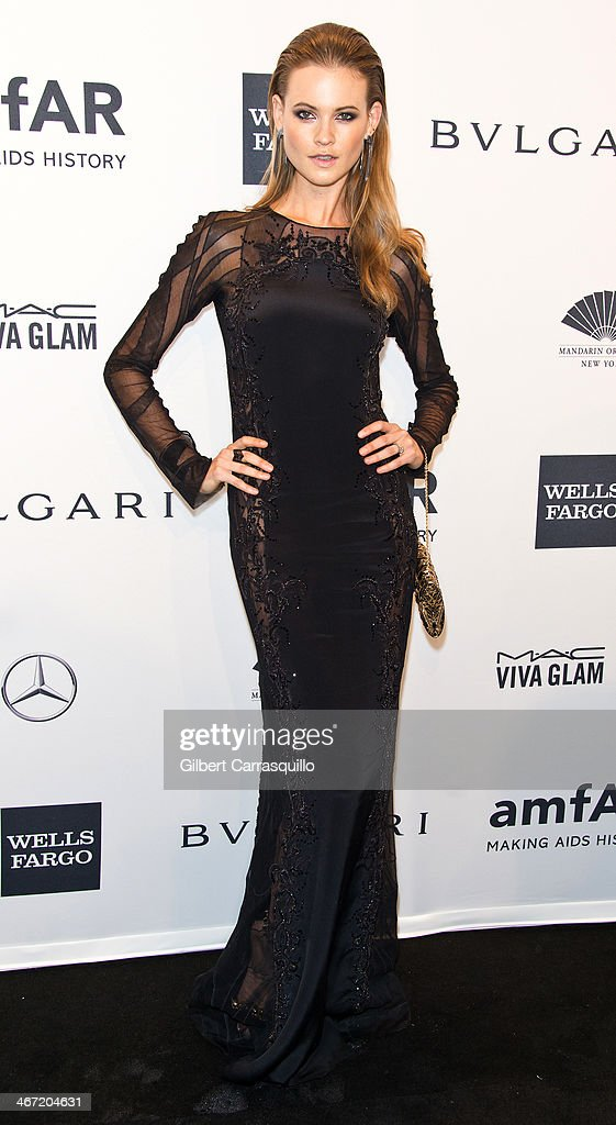 Model Behati Prinsloo attends the 2014 amfAR New York Gala at Cipriani Wall Street on February 5, 2014 in New York City.