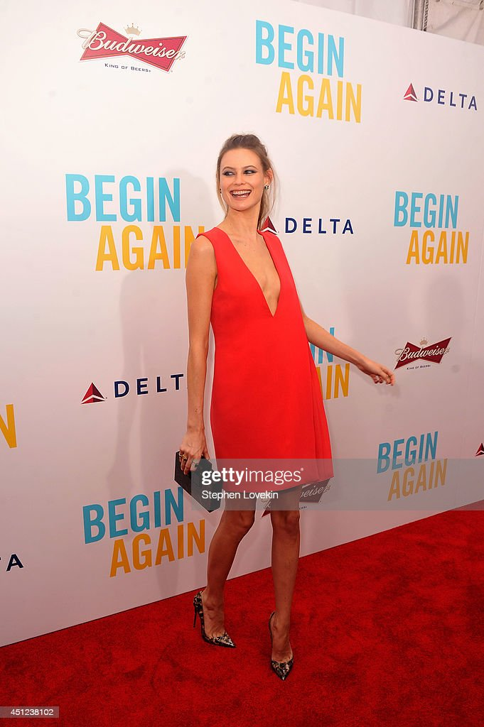 Model <a gi-track='captionPersonalityLinkClicked' href=/galleries/search?phrase=Behati+Prinsloo&family=editorial&specificpeople=4319064 ng-click='$event.stopPropagation()'>Behati Prinsloo</a> attends the New York premiere of the Weinstein company's BEGIN AGAIN, sponsored by Delta Airlines and Budweiser at SVA Theater on June 25, 2014 in New York City.