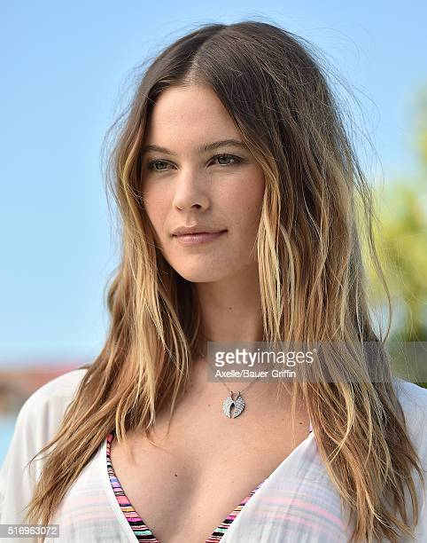 Model Behati Prinsloo attends Victoria's Secret Swim Launch at SLS Hotel on March 8 2016 in Beverly Hills California