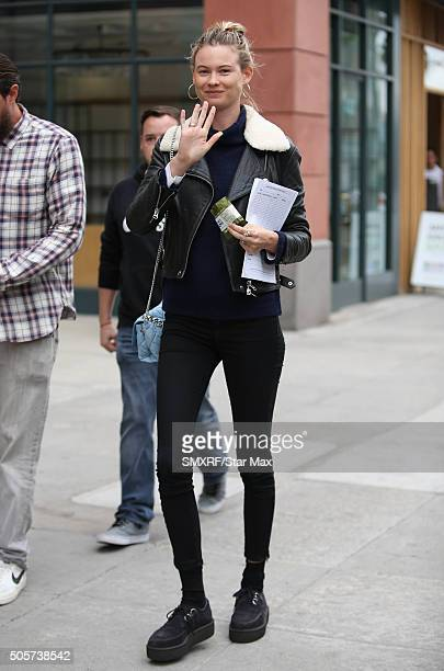 Model Behati Prinsloo is seen on January 19 2016 in Los Angeles California