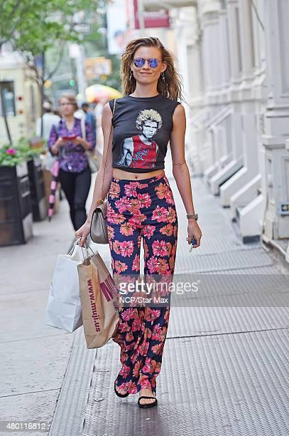 Model Behati Prinsloo is seen on July 9 2015 in New York City