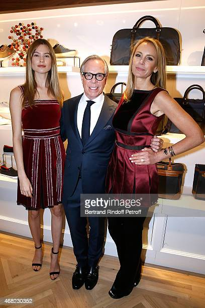 Model Behati Prinsloo Tommy Hilfiger and his wife Dee attend the Tommy Hilfiger Boutique Opening at Boulevard Capucines on March 31 2015 in Paris...