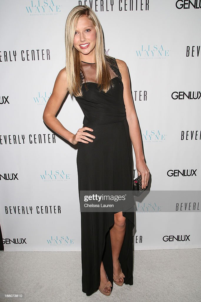Model Bekah Christiansen arrives at the Genlux new issue launch party hosted by Lisa Vanderpump on November 14, 2013 in Beverly Hills, California.