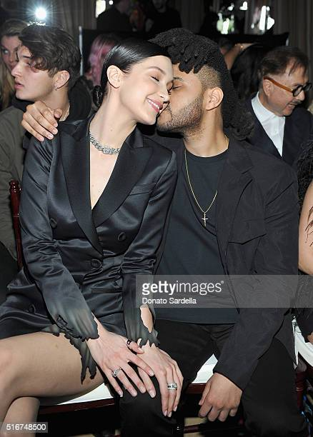COVERAGE Model Bella Hadid and singer The Weeknd attend The Daily Front Row 'Fashion Los Angeles Awards' 2016 at Sunset Tower Hotel on March 20 2016...