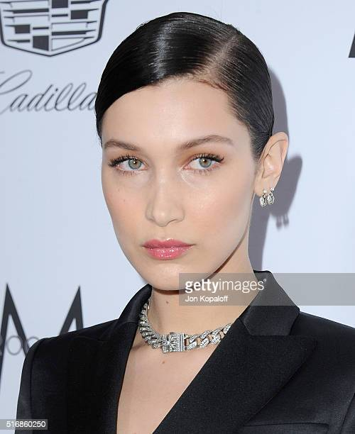 Model Bella Hadid arrives at The Daily Front Row 'Fashion Los Angeles Awards' 2016 at Sunset Tower Hotel on March 20 2016 in West Hollywood California
