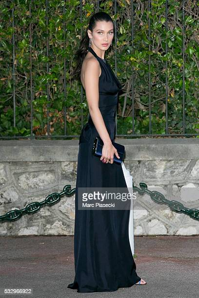 Model Bella Hadid arrives to attend the 'AMFAR' dinner during the annual 69th Cannes Film Festival on May 19 2016 in Antibes France
