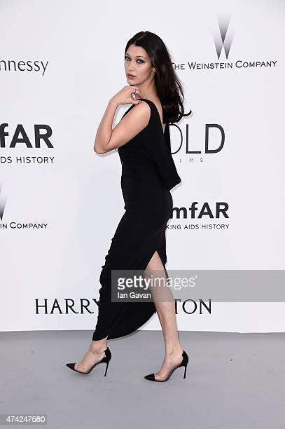 Model Bella Hadid attends amfAR's 22nd Cinema Against AIDS Gala Presented By Bold Films And Harry Winston at Hotel du CapEdenRoc on May 21 2015 in...