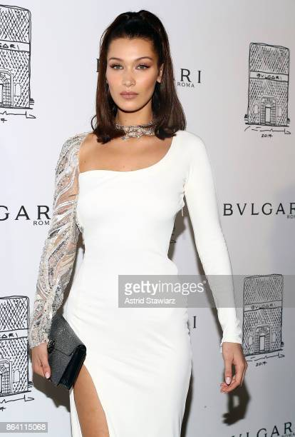 Model Bella Hadid attends Bulgari 5th Avenue flagship store opening on October 20 2017 in New York City