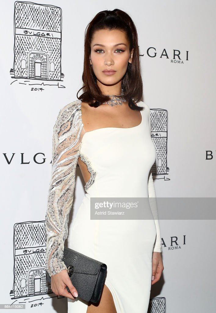 Model Bella Hadid attends Bulgari 5th Avenue flagship store opening on October 20, 2017 in New York City.
