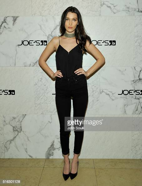 Model Bella Hadid attends Joe's Jeans and Bella Hadid celebration for the launch of the 2016 Joe's Jeans campaign at Sunset Tower Hotel on March 17...