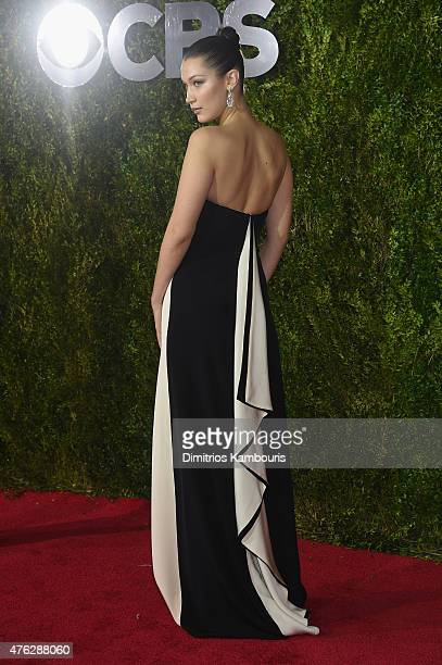 Model Bella Hadid attends the 2015 Tony Awards at Radio City Music Hall on June 7 2015 in New York City