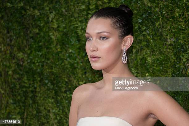 Model Bella Hadid attends the American Theatre Wing's 69th Annual Tony Awards at Radio City Music Hall on June 7 2015 in New York City
