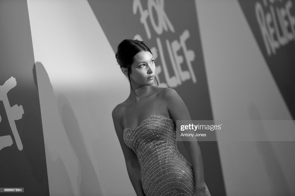 Model Bella Hadid attends the Fashion for Relief event during the 70th annual Cannes Film Festival at Aeroport Cannes Mandelieu on May 21, 2017 in Cannes, France.